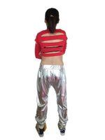 ropa de hip hop al por mayor-de primera calidad 17 18 nuevas mujeres manera del funcionamiento del traje delgados pantalones harén de baile hip hop pantalones de jogging oro ropa
