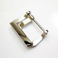ремешок для часов 26 мм оптовых-22 мм 24 мм 26 мм Высокое Качество OEM Серебристый Полированный PAND Винт Tang Пряжка для PAM Резиновый Кожаный Ремешок Для Часов Ремешок