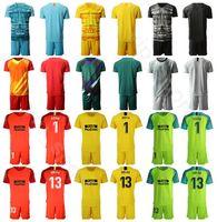 nome do jogo futebol venda por atacado-2019 2020 goleiro de futebol 13 Jan Oblak Jersey Set Homens Goleiro GK 1 Antonio Adan 1 MOYA Futebol shirt Kits Uniform Nome personalizado