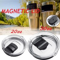 20 30oz Mug Cup Lid Tumbler Splash Spillsproof Locking Magnetic Slider Pillsproof Cover WWQ