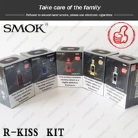 v2 e sigara pilleri toptan satış-100% Orijinal Smok R-Kiss 200 W Kiti ile TFV-Mini V2 Tankı S1 Tek Örgü Bobin Çift Pil Modu tarafından Desteklenmektedir PK Pico Swag E-Sigara Kitleri