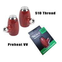 pipas para fumar al por mayor-KY32 Electic Smoking E Pipe Vaporizador Mod Precalentamiento VV Voltaje variable 900 mAh 510 Rosca Batería Cargador USB para cartuchos vacíos Dank Vapes