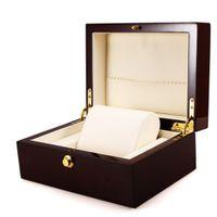 relógios de luxo venda por atacado-Caixa De Relógio De Pulso De Luxo Caixa De Madeira Artesanal Caixa De Presente De Jóias Recipiente De Armazenamento Profissional Organizador Titular Relógios Exibição