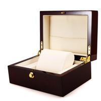 Wholesale professional jewelry storage resale online - Luxury Wrist Watch Box Handmade Wooden Case Jewelry Gift Box Storage Container Professional Holder Organizer Watches Display