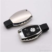mercedes benz uzaktan kumandalı anahtarı toptan satış-TPU Oto Anahtar Kutu Anahtar Shell Tutucu Uzaktan Araba Anahtarı Kapak Için Mercedes-Benz A / B / C / E / ML / GL / S / GLA / GLK