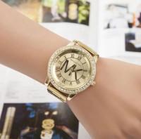relógios de estilo japonês venda por atacado-Relógio de luxo das mulheres movimento de quartzo japonês estilo clássico caixa de aço inoxidável pulseira de couro profunda à prova d 'água montre de luxe