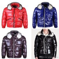 Wholesale free down lights resale online - Ski Down Jacket High Quality Men s Short Fashion Light Breathable Duck Down Warm Hooded Detachable Down Jacket DHL