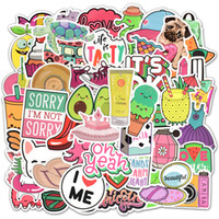 Wholesale teen girls gifts for sale - Group buy 50 Waterproof Beach Style Vinyl Stickers for Water Bottle Laptop MacBook Computer Phone Pad for Teen Girls DIY Cute Gifts