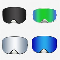 Wholesale blue ski goggles for sale - Group buy Double Deck Anti Fogging Goggles Skiing Women Man Cycling Blinkers Mountain Climbing Eye Protector Breathable Blue Black bh D1