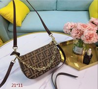 Wholesale women sling chain bag resale online - Armpit bag bag strap is very short can be carried under the arm also can carry hand slung bag CM