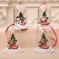 bolas de árvore de natal venda por atacado-2019 ornamento do pendente de Natal transparente Resina de madeira materiais de artesanato decoração do partido da árvore de Natal da bola de plástico transparente