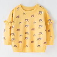 sweat-shirt jaune bébé achat en gros de-Sweat à capuche jaune mignon pour bébé fille Sweat-shirt à manches longues 100 coton Sweat-shirts pour les filles 3 conception pour Choose19072002