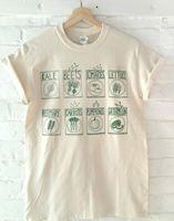 camiseta de frutas al por mayor-Unisex Cute Graphic Tees Garden Vegetables Fruits Herb Impreso Vintage Aesthetic Khaki T Shirt Summer Short Sleeve Cotton Tshirt