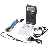 radyo havası toptan satış-HanRongDa HRD-737 Taşınabilir Radyo Uçak Band Alıcı FM / AM / GB / CB / Hava / VHF Radyo Dünya Bant LCD Ekran Alarm Clock