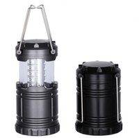Wholesale flashlight stock resale online - 30LED Camping Lantern Flashlights Emergency Outdoor Portable Lantern Collapsible Camping Tents Light Novelty Items CCA11494