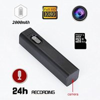 Wholesale digital one camera for sale - Hot sale S100 Portable HD P Mini camera COMS Ultra thin power bank DVR Digital Video recorder simple one button operation Sport Camera