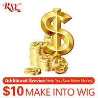 encerramento completo de renda venda por atacado-adicionar R $ 10 para fazer seus pacotes com fecho para uma peruca completa e pagamento preço diferença e custo área remota