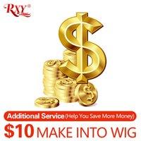 dantel ön peruk yapımı toptan satış-bir peruk tam ve kalın bir kapatma veya ön 360 peruk yapmak için demetleri ile yapmak için 10 $ ekleyin