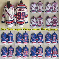 Wholesale richter rangers jersey resale online - New York rangers CCM Vintage jerseys GRETZKY JAGR GRAVES RICHTER MESSIER GILBERT LEETCH GIACOMIN Hockey Jersey