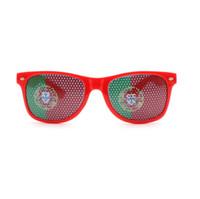 barras de gafas de sol al por mayor-Bar Party Fan Sunglasses Copa del mundo gafas bandera nacional Gafas de sol Pegatina gafas 36 colores opcionales