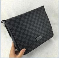 Wholesale portable carriers resale online - 2019 Europe and the United States new fashion Messenger business bag portable briefcase soft leather bag louis Vuittoon