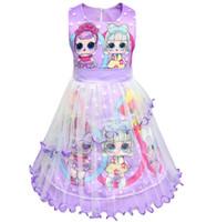 Wholesale girls leopard costume halloween for sale - kids girls Surprise dress Cosplay Costume Children Kids Printed Princess Party Dress Skirt Baby Clothing KKA6602