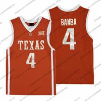 ingrosso pullover di basket arancione-Texas Longhorns # 4 Mohamed Bamba Mo Retro Orange Nome cucito Numero NCAA College Basketball Jersey economici di buona qualità S-3XL