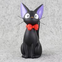 tirelire noire achat en gros de-Studio Ghibli Hayao Miyazaki Anime Kikis Service De Livraison Tirelire Noir Jiji Cat Figurines Collection Jouets Modèle Jouet