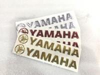 protetores de tanque de motocicleta venda por atacado-3D reflexivo para yamaha logotipo tanque de combustível da motocicleta pad universal preto espinha de peixe de fibra de carbono freeshipping protetor adesivo