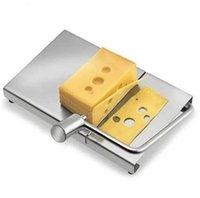 ingrosso fili di formaggio-Nuovo affettatrice per formaggio in acciaio inox 1pz Tagliapasta per affettare formaggio con tagliere per burro di semola dura
