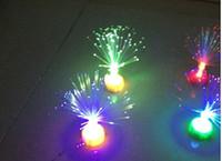 Wholesale fiber optics trees for sale - Group buy Factory direct spot fiber small candle light led candle light fiber mini optic Christmas tree