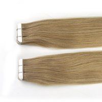 Wholesale skin weft hair extensions for sale - Tape In Human Hair Extensions Skin Weft Tape Hair Extensions g pieces Brazilian Hair Hablonde Double Sides Adhesive Cheap