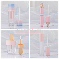 Wholesale lipgloss package resale online - Girls Lip Gloss Tubes Plastic Tint DIY Empty Makeup Package Lipgloss Liquid Lipstick Case Beauty Packaging HHAa103