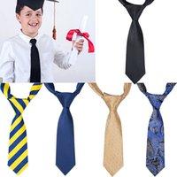 Boy Tie Kids Baby School Boy Wedding Necktie Neck Tie Elastic Solid 11 Colors BH