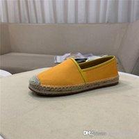 ingrosso imballaggio per cannucce-Nuove esclusive scarpe da pescatore casual classiche in serie limitata Scarpe da uomo in paglia piatta con logo lettering, un set completo di imballaggi