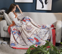cobertores de camada dupla venda por atacado-Luxo Lance Cobertor Camadas Duplas Sherpa Cobertor Lance Cozy Cobertores Quentes Cobertor de Dormir para o Inverno Cama