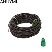 Wholesale 7mm hose resale online - 25M MM Hose Garden Irrigation System Accessories Wear Black Hose Watering Pipe Automatic Drip Watering Kit Villa