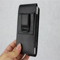 Wholesale leather belt holster case online - Universal Sport Leather Holster Belt Clip Phone Case Cover Pouch For Iphone X XR XS MAX Plus Samsung Huawei
