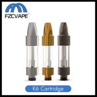 ingrosso bullet vape-Autentica Kangvape K6 ceramica testina a bobina da 0,5 ml 1,0 ml proiettile Drip Tip Vape Carrelli Gunmetal Oro Argento per Thick Oil Vaping