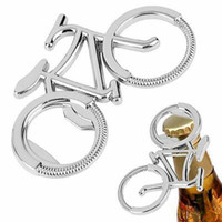 Wholesale key shaped resale online - Bicycle Keychain Gift Bottle Cute Beer Metal Opener Fashion Bicycle Shape Keychain Car Key Chain ZZA950
