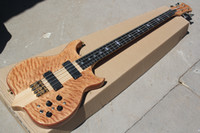New 4 strings Ebony Fingerboard Electric Bass Guitar with Tiger Flame Maple veneer,Golden hardware,offer customize
