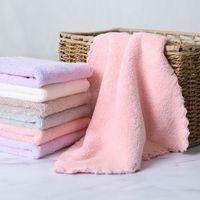 handtuch pinafore groihandel-25x25cm Superfine Faser Cartoon Melange Kind Handtuch Handtuch Schürze Home Cleaning Gesicht für Baby für Kinder Hohe Qualität