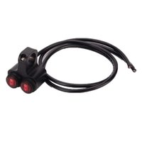 interruptores 16a al por mayor-Universal CNC Aleación de Aluminio Motocicleta Faucet Switch Impermeable 12 V 16A Moto Handleabr Spotlight Switches Accesorio