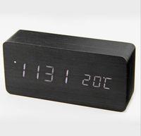 digitalbeleuchtung alarm großhandel-Upgrade-Mode LED-Wecker despertador Temperatur Sounds Control LED-Nachtlichter zeigen elektronische Desktop-Digital-Tischuhren