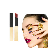 Wholesale bite lipstick resale online - Fashion Lip biting Makeup Dumb Gloss Lasting Lip Gloss Sexy Velvet Lipstick Dumb Gloss Plump Lip Gloss High end Gold Bars