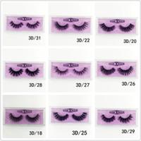 Wholesale medium eyelashes resale online - Medium and long section D Mink Eyelashes Eye makeup Mink False lashes Soft Natural Thick Fake Eyelashes style DHL free