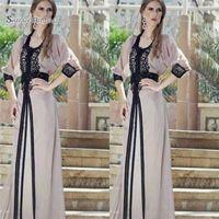 ligne de bal robes musulmanes dubai achat en gros de-2019 Vintage A-line Dubai Musulman Longue Robes De Bal Maxi Soirée Robe De Vente Chaude robe mariage