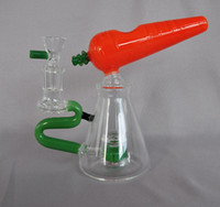 Wholesale best smoke accessories resale online - Creative Carrot Glass Water Pipe Dab Oil Rig Handmade Tobacco Pipes Best Quality Cucumber Cheap Smoking Accessories Beautiful Hand Pipe
