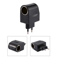 ingrosso spina del convertitore di sigarette-110-240 V AC a 12V DC 500mA Accendisigari per auto convertitore adattatore US / EU Plug Spedizione gratuita