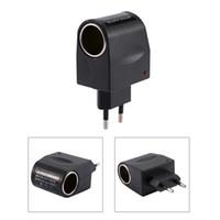 Wholesale car converter eu online – 110 V AC to V DC mA Car Cigarette Lighter Adapter Converter US EU Plug